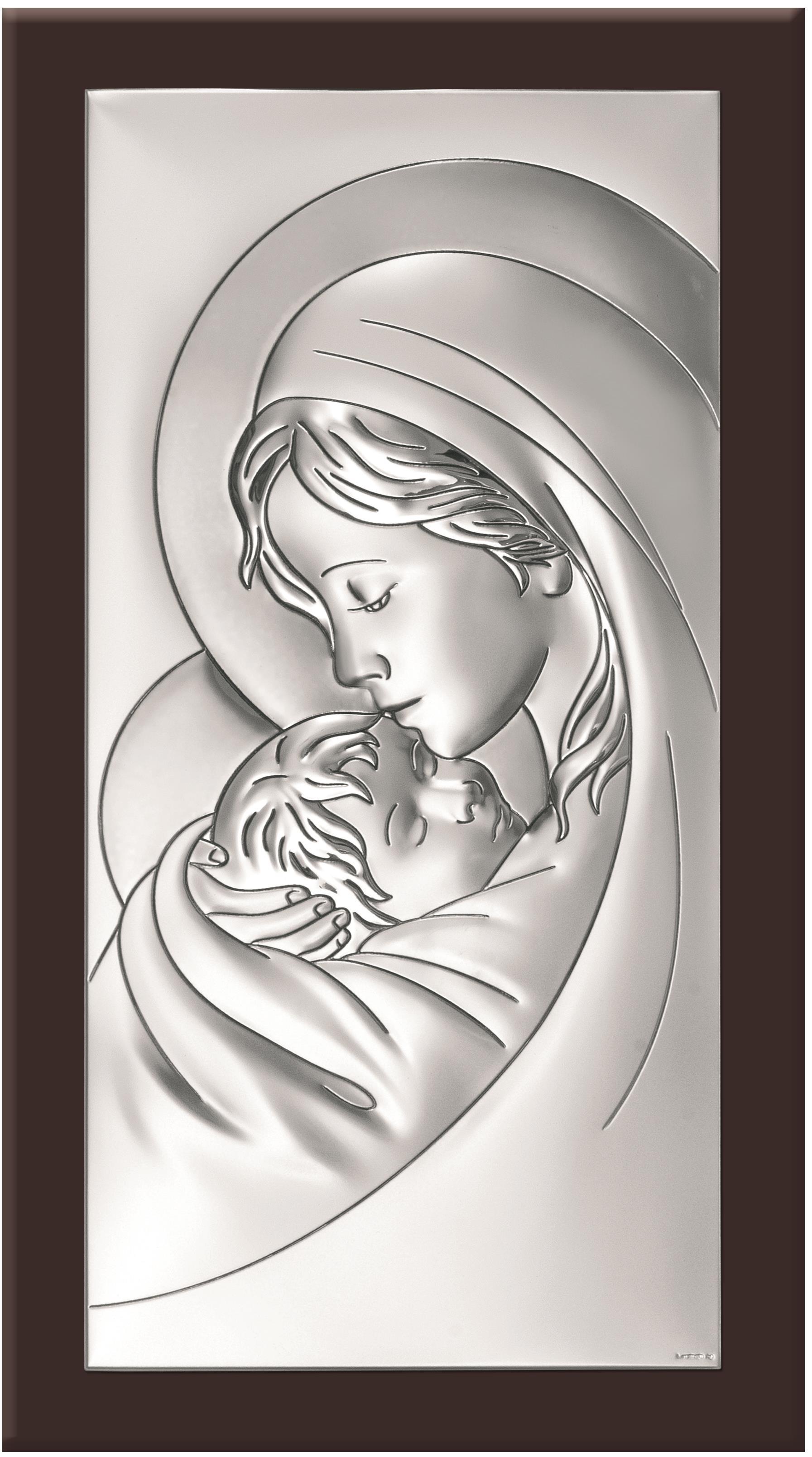 Poważne Obraz Matki Bożej z Dzieciątkiem 8x13,5 6381/2WM e-sakralne.pl BO58